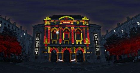 Urban Flipper - Place des Célestins - CT Light Concept © Fête des Lumières 2011