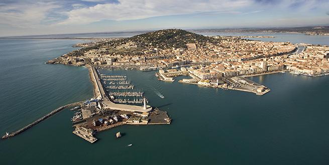 Veduta aerea di Sète